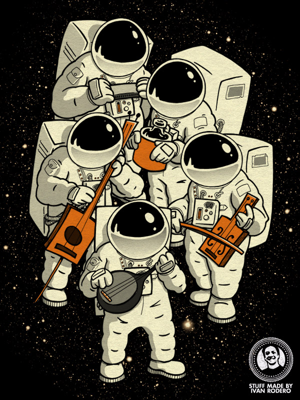 Space Jamboree, an illustration by Ivan Rodero