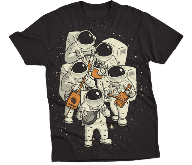 Space Jamboree T-shirt by Ivan Rodero